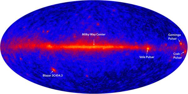 Изображение неба в гамма-диапазоне