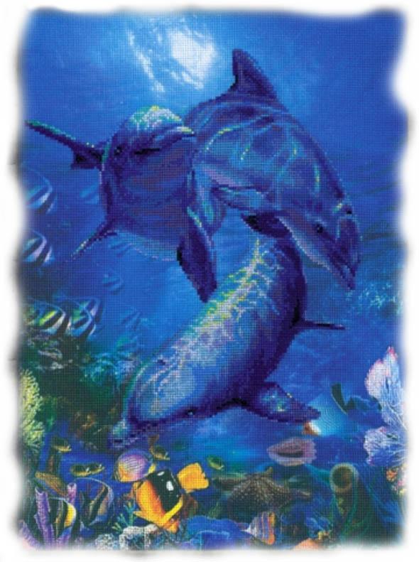 Три дельфина - символ родительской заботы